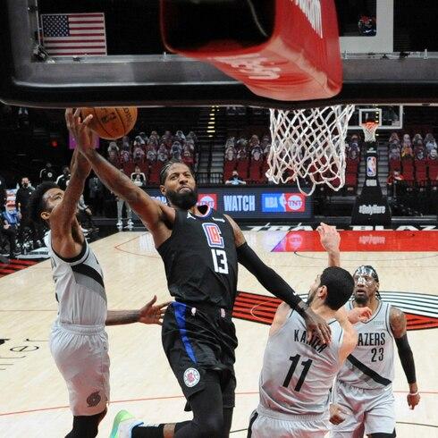 Paul George anota 33 puntos en la victoria de los Clippers sobre los Trail Blazers