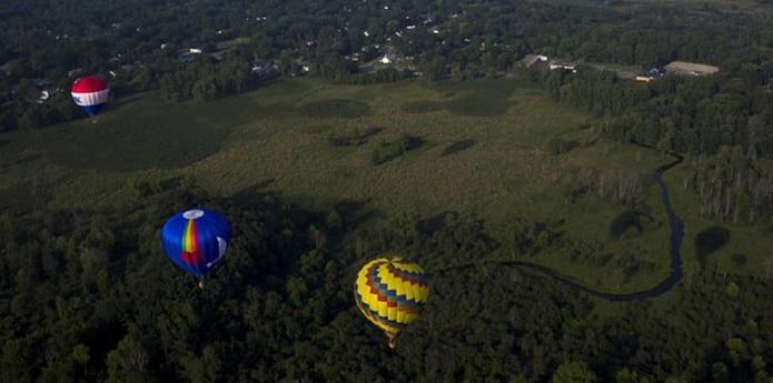 La European Balloon Festival es la concentración de globos más importante de España, a la que asisten más de 25,000 personas cada año. (Nick Gonzales /The Jackson Citizen Patriot via AP)