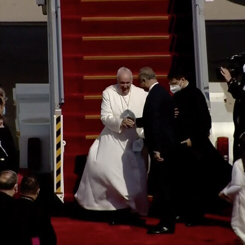 Así aterrizó el papa Francisco en Irak