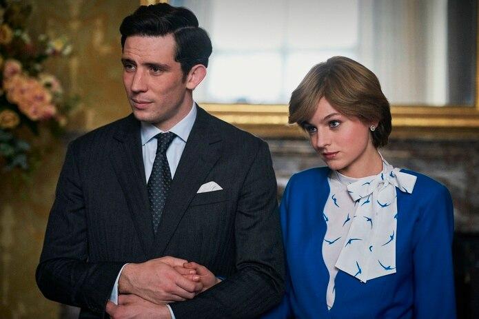 """Josh O' Connor y Emma Corrin como el príncipe Charles y la princesa Diana en la cuarta temporada de la serie """"The Crown""""."""