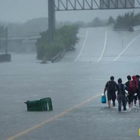 Houston bajo agua por Harvey