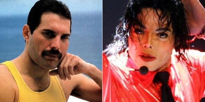 Freddie Mercury y Michael Jackson (Archivo)