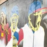 Emoción por el mural del Clásico en Vega Alta