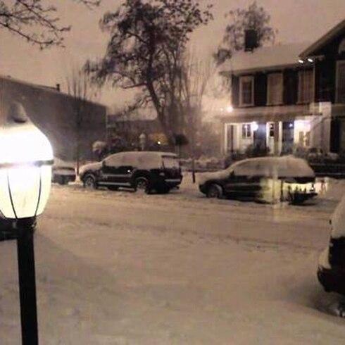 Vídeo muestra acumulación de nieve en varias horas