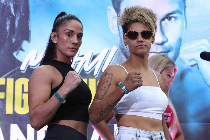 Amanda Serrano y Simone Da Silva estuvieron por debajo del peso acordado de 132 libras.
