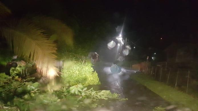 """Imágenes suministradas por el alcalde de Río Grande, Ángel """"Boris"""" González de los fuertes vientos de la tormenta tropical Isaías."""