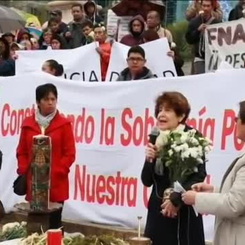 Nochebuena reivindicativa en México en recuerdo de los estudiantes de Iguala