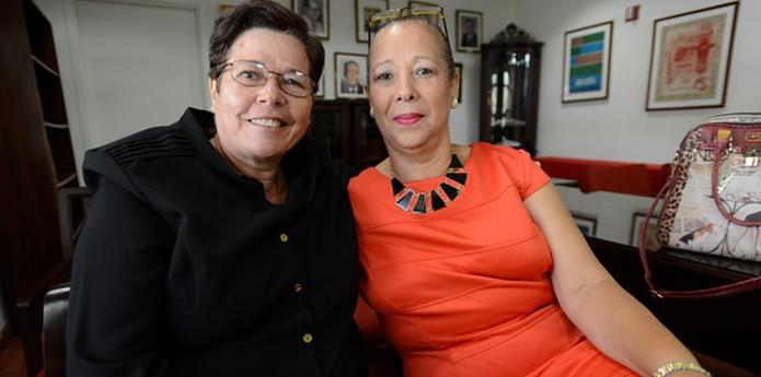 Las parejas también reclaman que se legalice en la Isla los matrimonios entre parejas del mismo sexo. En la foto, Maritza López Avilés e Iris Delia Rivera Rivera. (Archivo)