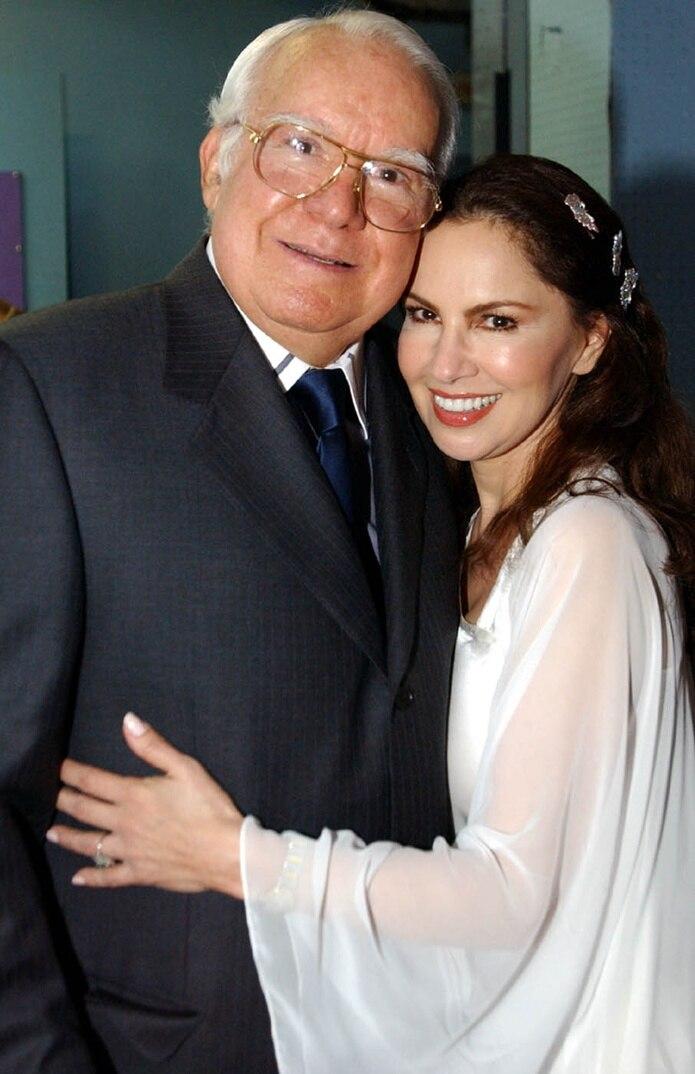 Con el productor Paquito Cordero.