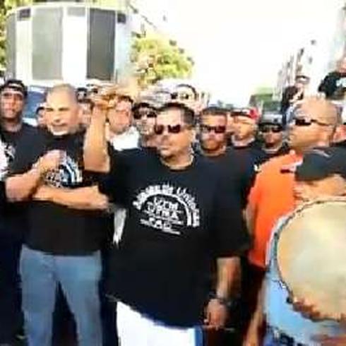 Protestan los transportistas y camioneros