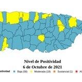 Tasa de positividad del COVID-19 en Puerto Rico llega a su punto más bajo en tres meses