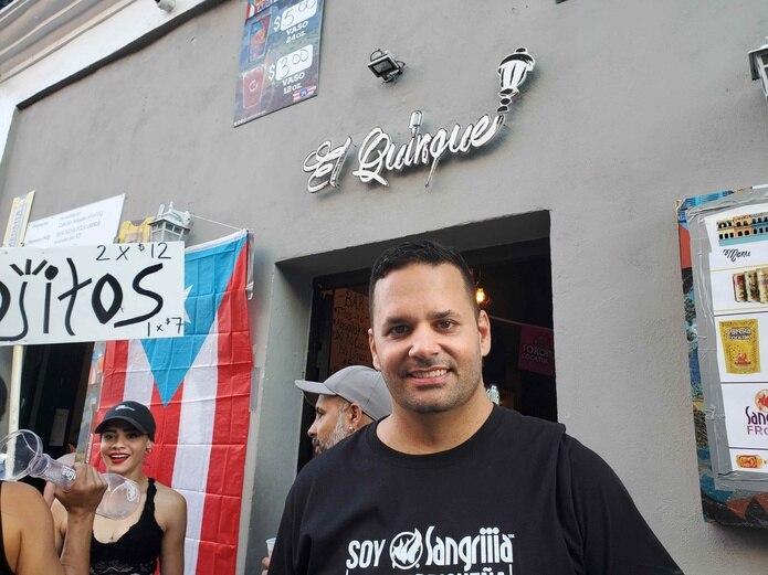 Félix Bared, propietario de la barra El Quinqué. (rosa.escribano@gfrmedia.com)