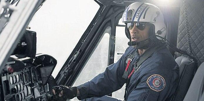 Dwayne Johnson en una de las escenas del filme San Andreas (Archivo)
