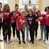 Ping Pong bien PH con el Equipo Nacional de Baloncesto Femenino