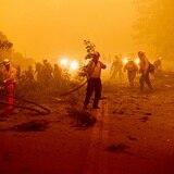 No avanza la extinción del mayor fuego activo en California