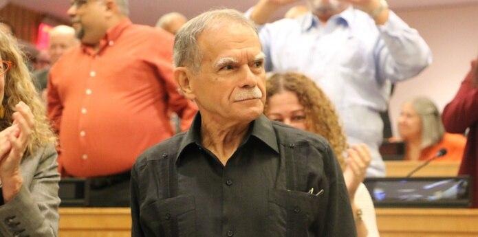 López Rivera fue el primero en hablar hoy ante el Comité de Descolonización que cada año evalúa el caso de la isla, donde fue recibido con una ovación y aplausos por participantes en la reunión. (Twitter/venezuela_un)