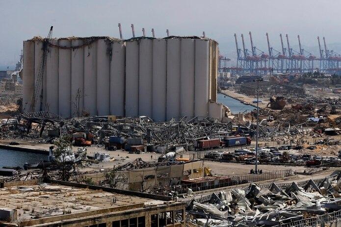 Área principal donde ocurrió la explosión en Beirut.
