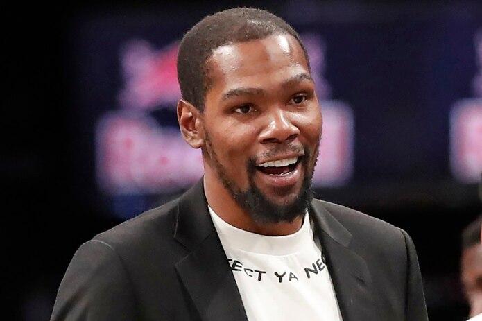 Kevin Durant fotografiado durante un partido entre los Nets de Brooklyn y los Knicks de Nueva York el 26 de diciembre del 2019. Durant acaba de adquirir un 5% del paquete accionario del Union de Filadelfia, de la MLS.