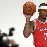 Carmelo Anthony fue presentado como nuevo jugador de los Rockets de Houston