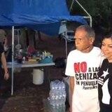 Oscar López se une a lucha contra las cenizas en Peñuelas