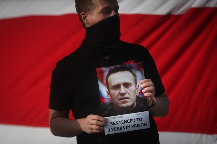 """Según el FSIN, Navalni es examinado diariamente por un médico y su estado de salud """"se valora como satisfactorio""""."""