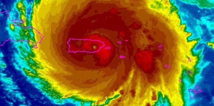 Si ese pronóstico se cumple, la temporada podría superar la cifra normal. En la foto, el huracán María. (NOAA)