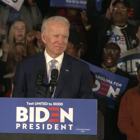 Joe Biden arrasa en las primarias demócratas en Carolina del Sur