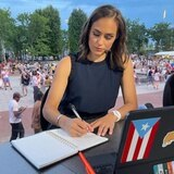 Mónica Puig se desempeña como analista en el US Open