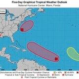 Vigilan tres sistemas en el Atlántico