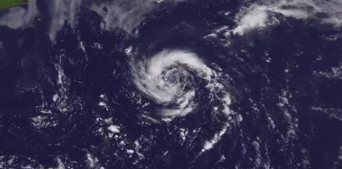 Imagen de satélite de Debby. (NOAA)