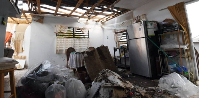Una residencia destruida en Barceloneta. (andre.kang@gfrmedia.com)