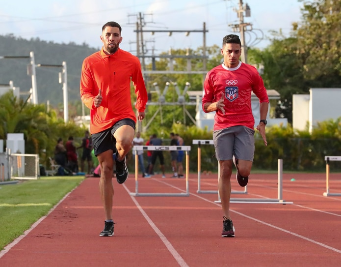 Wesley  Vázquez (izquierda) y Andrés Arroyo tienen ponchado su pase a las Olimpiadas de Tokio.