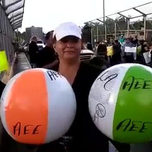 Protesta por la falta de electricidad a medio año de María