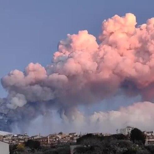 Mira las espectaculares imágenes del volcán Etna