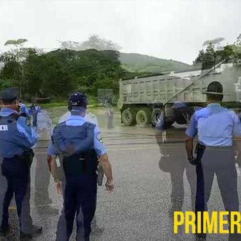 La Policía ayudó con la entrada de camiones al vertedero de Peñuelas