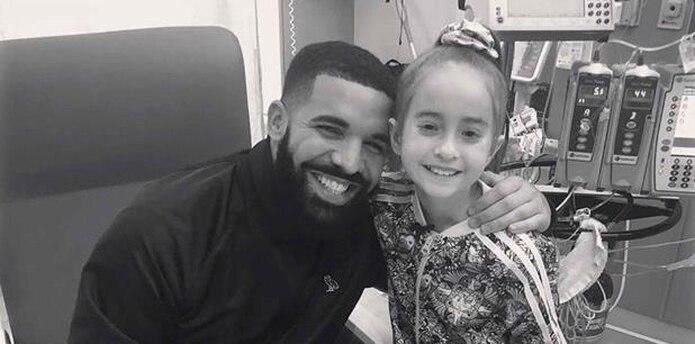 El rapero Drake y Sofía Sánchez. (OVO / Drake vía AP)