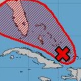 Se encamina a Florida el sistema que podría alcanzar desarrollo ciclónico sobre las Bahamas