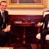 Exgobernador se reúne con el presidente de República Dominicana