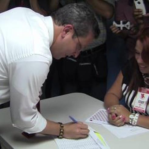 García Padilla llega a la sede del PPD