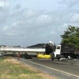 Imágenes del accidente con camión en Salinas