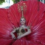 Euforia por el traje típico de Madison Anderson en la preliminar de Miss Universe
