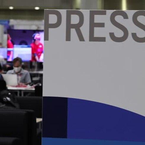 Una mirada al centro de prensa internacional de Tokio 2020