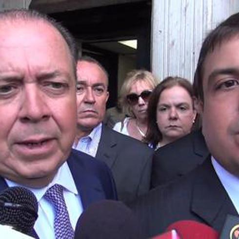 Antonio Sagardía ofrece declaraciones al salir del tribunal