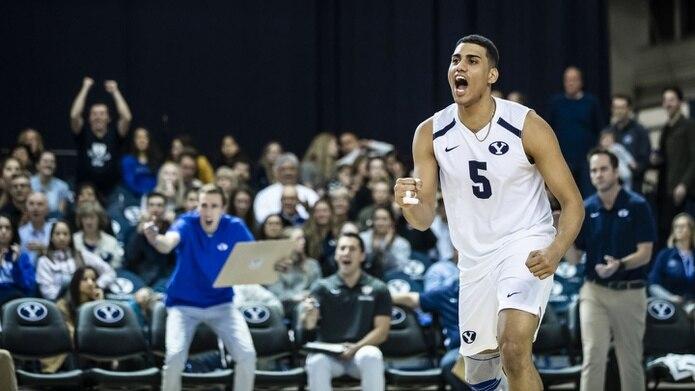 """Gabriel """"Gabi"""" García juega para el prestigioso programa de voleibol de BYU en la División I de la NCAA y ya ha representado a Puerto Rico con varias selecciones nacionales. (byucougars.com)"""