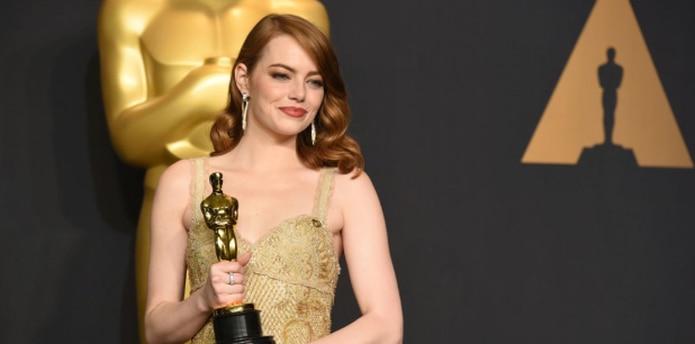 En la edición 89 del Oscar, Emma Stone consiguió el trofeo a la Mejor actriz. (AP)