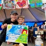Ofrecen talleres de pintura a niños del suroeste