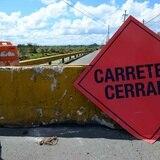 Cierran tramo de carretera en Comerío por deslizamiento de tierra