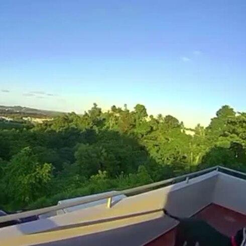 Así se vio el meteoro en Puerto Rico