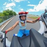 "Kathia Yari se hizo famosa ""wheeleando"" en four track"