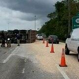 Camión se vuelca en Vega Baja